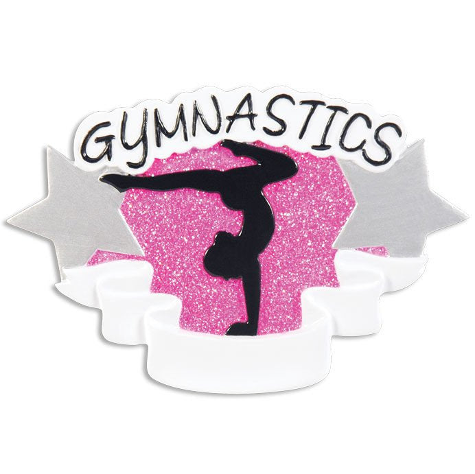 Girl Gymnastics Personalized Christmas Ornament / Gymnastics Ornament / Hand Personalized Christmas Ornament