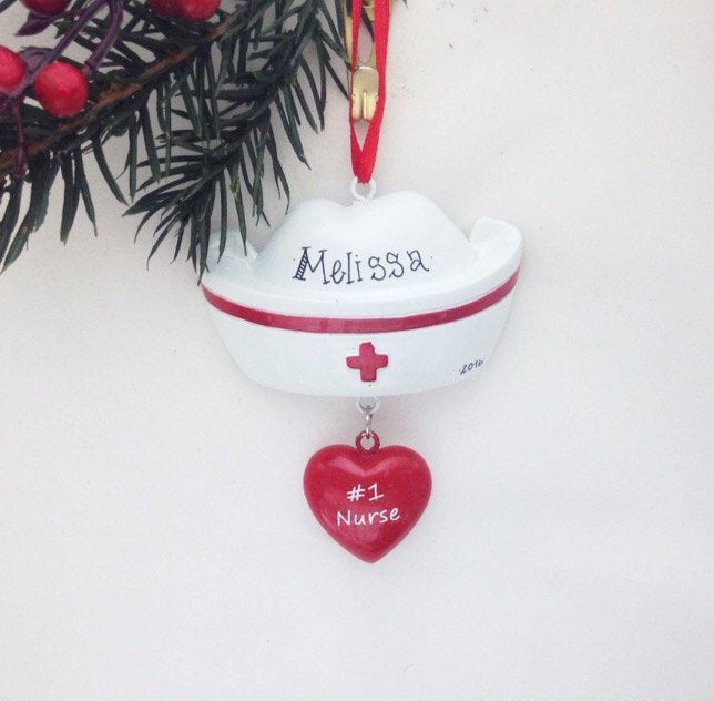 Nurse Hat Personalized Christmas Ornament
