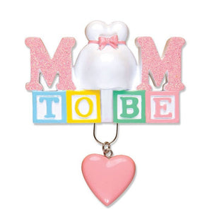 Expecting Mother Personalized Christmas Ornament / Mom to Be