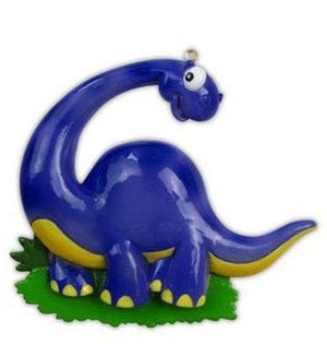 Brontosaurus Personalized Christmas Ornament / Purple Dinosaur / Gift for kids