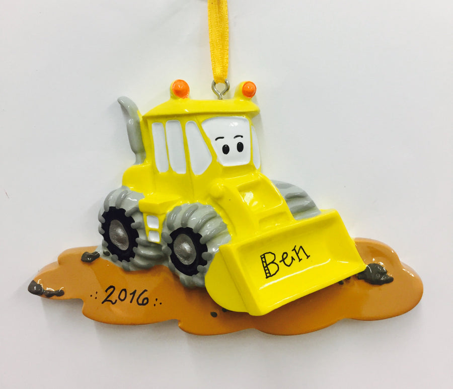 Bulldozer Personalized Christmas Ornament / Toddler Christmas Ornament / Gift for Kids