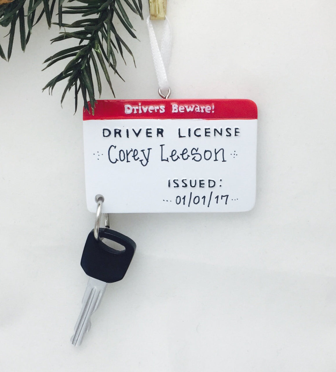 New Driver's License and Keys Personalized Christmas Ornament / New Driver