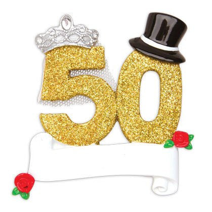 50th Anniversary Personalized Christmas Ornament / Couple Ornament / Golden Anniversary Ornament