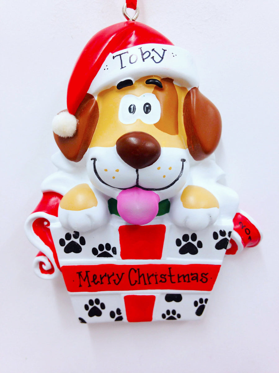 Spotted Dog Christmas Ornament / New Puppy Ornament / Pet Christmas Ornament