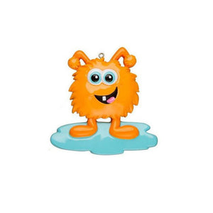 Orange Monster Personalized Christmas Ornament / Funny Gift for Kids