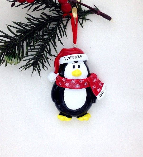 Little Penguin Personalized Christmas Ornament / Toddler Christmas Ornament / Little Boy / Little Girl