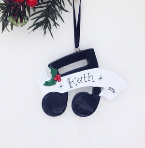 Music Notes Personalized Christmas Ornament / Music Ornament / Musician / Personalized Ornament / Music Notes with Holly