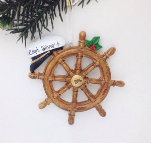 Boat Captain Personalized Christmas Ornament / Boat Ornament