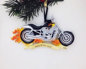 Motorcycle Personalized Christmas Ornament / Harley Ornament / Personalized Ornament / Dad Gift / Dad Christmas Ornament