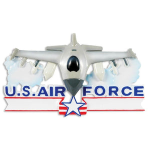 Air Force Jet Personalized Christmas Ornament / Military Christmas Ornament