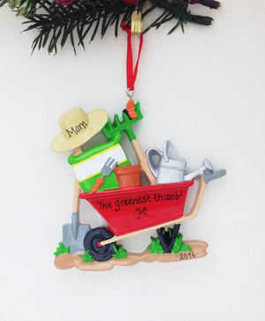 Gardening Personalized Christmas Ornament / Gardener Ornament / Landscaping / Personalized Ornament