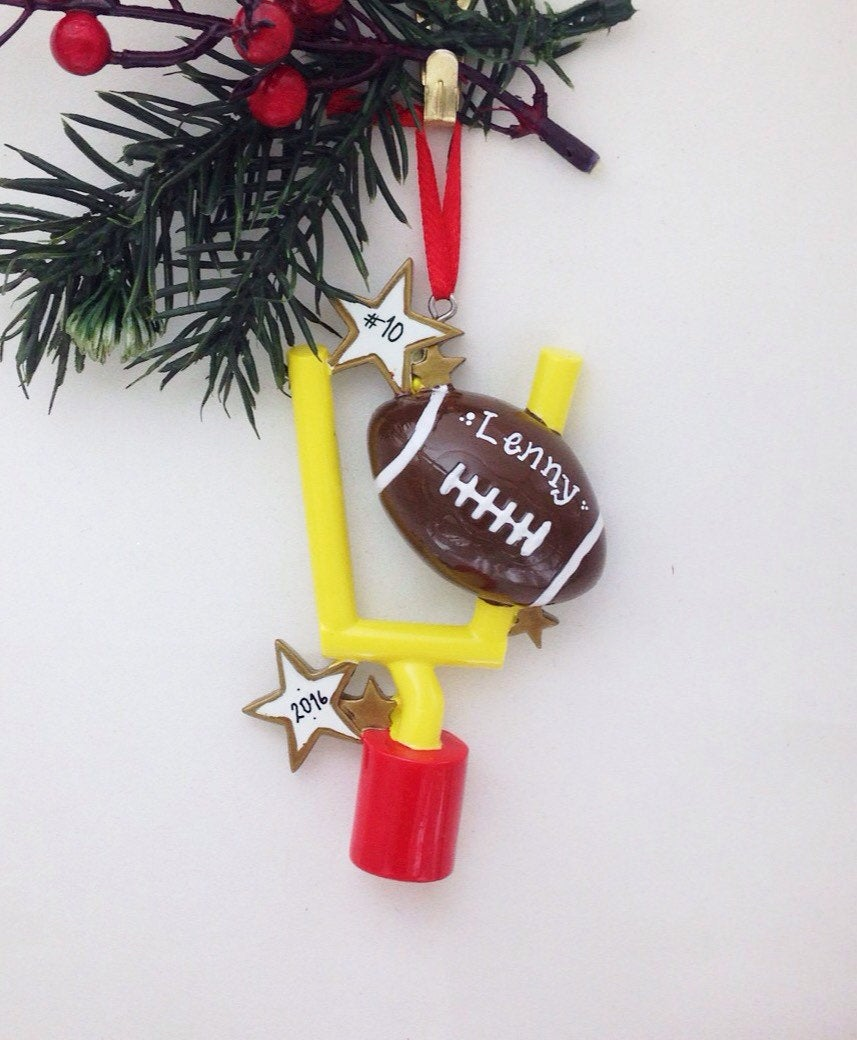 Football Personalized Christmas Ornament / Football Ornament / Hand Personalized Christmas Ornament