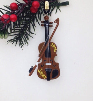 Violin Personalized Christmas Ornament