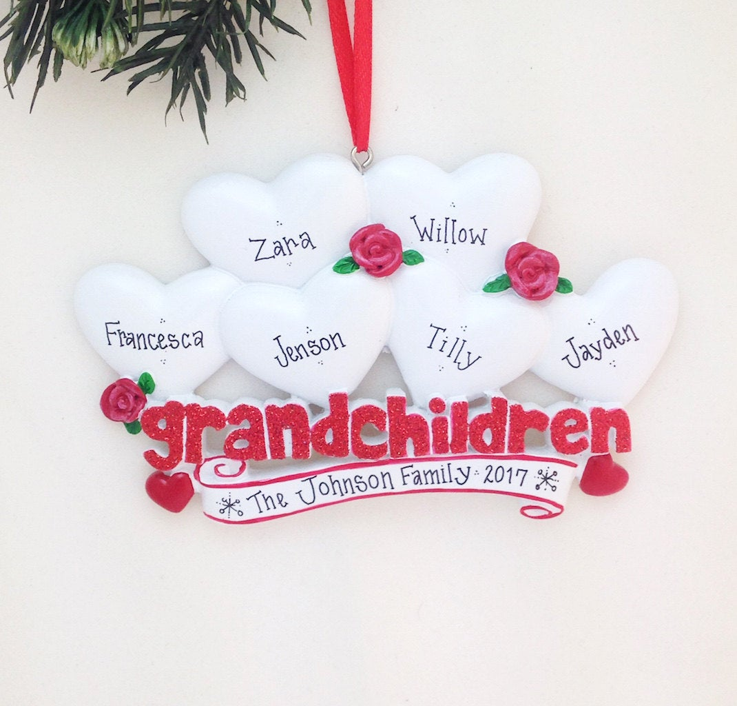 6 Grandchildren Personalized Christmas Ornament / Gift for Grandma