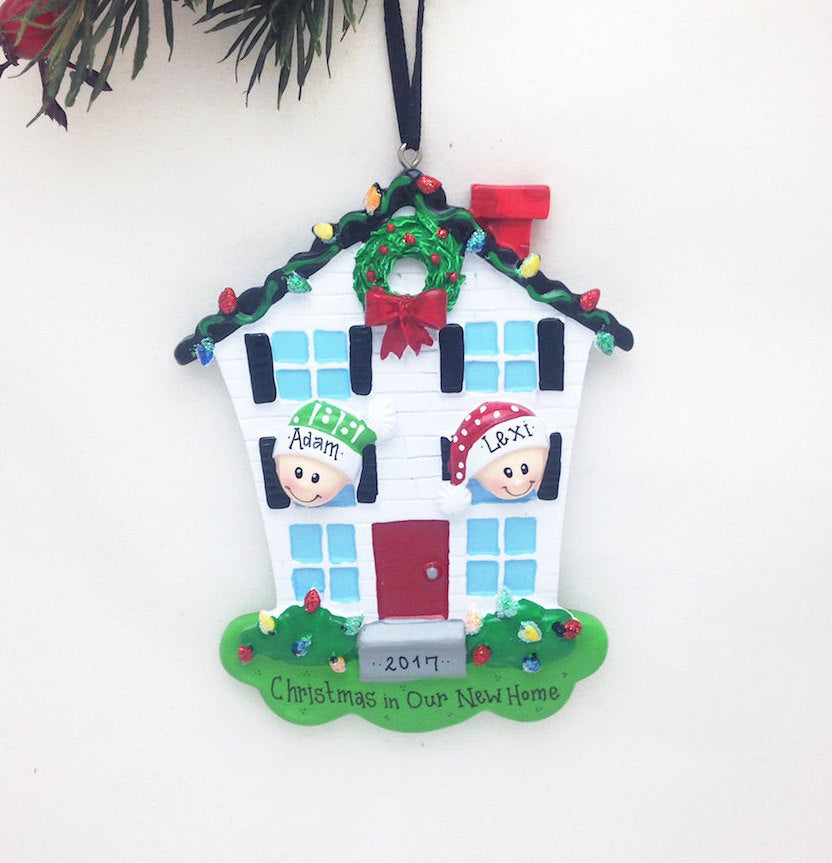 Couple Happy Home Personalized Christmas Ornament / 2 People Happy Home Ornament / First Christmas / New Home / Roommates