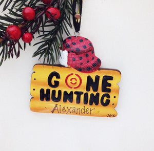 Gone Hunting Christmas Ornament / Personalized Christmas Ornament / Hunting Ornament