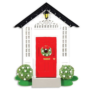 Red Door Home Personalized Christmas Ornament / New Home Ornament