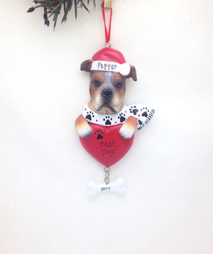 Boxer Dog Personalized Christmas Ornament