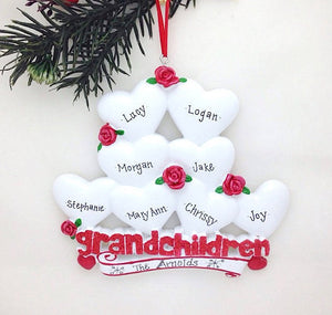 8 Grandchildren Personalized Christmas Ornament / Gift for Grandma or Grandpa
