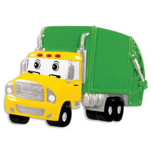 Garbage Truck Personalized Christmas Ornament / Gift for kids