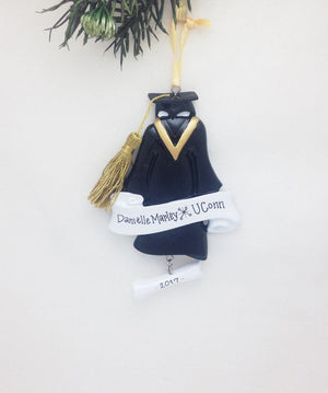 Personalized Graduation Christmas Ornament / Cap and gown / College Graduation / High School Graduation / Graduate / Diploma