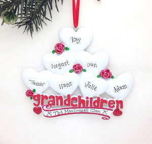 7 Grandchildren Personalized Christmas Ornament / Gift for Grandma or Grandpa