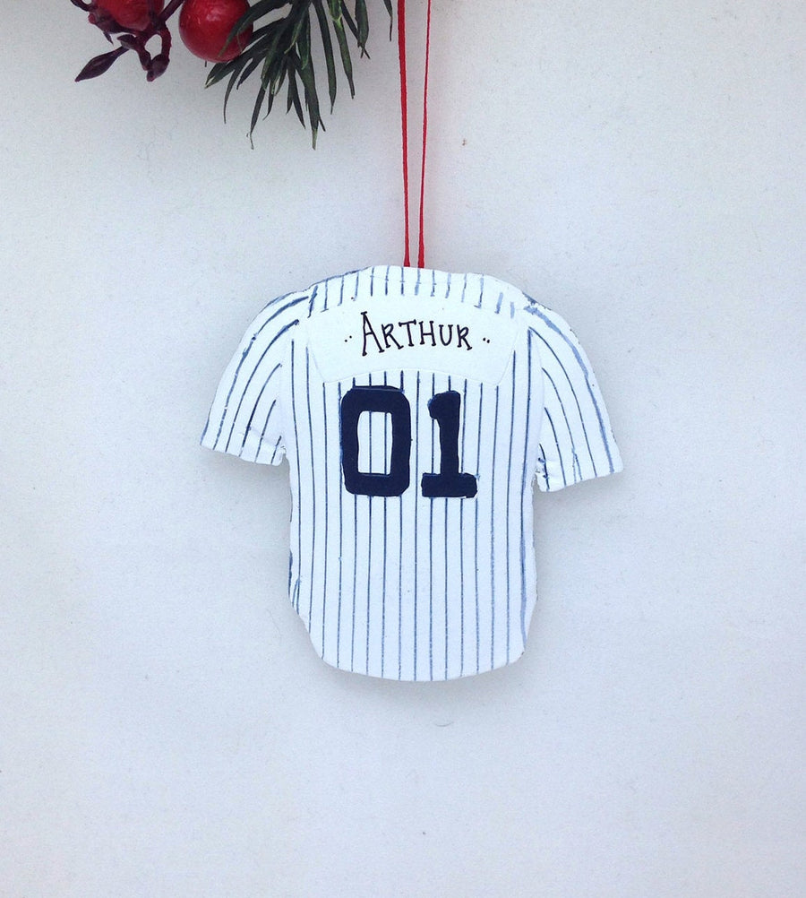 New York Yankees Personalized Jersey Christmas Ornament