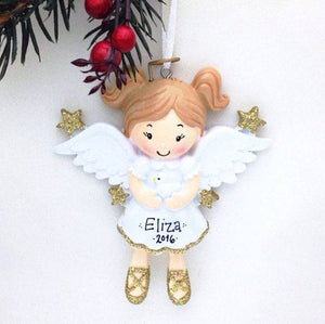Angel Ornament / Personalized Christmas Ornament for a Child