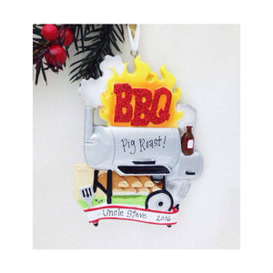 BBQ Personalized Christmas Ornament / Barbecue Ornament / Dad Personalized Ornament / Dad Gift / Dad Christmas Ornament