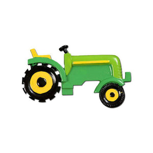 Green Tractor Personalized Christmas Ornament / Gift for kids