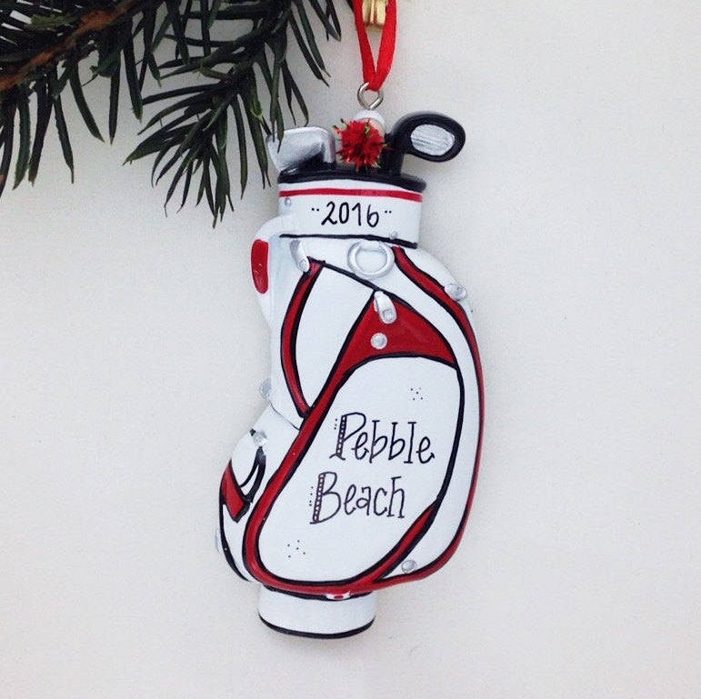 Golf Bag Personalized Christmas Ornament / Dad Christmas Ornament / Gift for Golfer / Golf Ornament / Golf Team