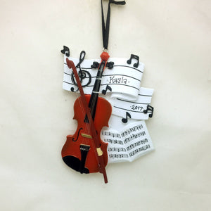 Violin Personalized Christmas Ornament / Musician Ornament