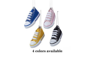 Black Sneaker Personalized Christmas Ornament / Court Shoes / Classic Sneakers