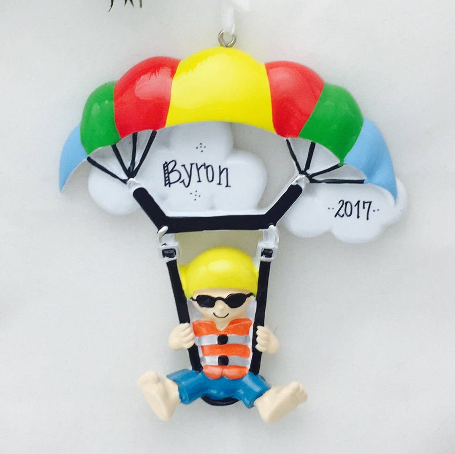 Para-Sailing Personalized Christmas Ornament / Hobby Ornament / Personalized Name or Message