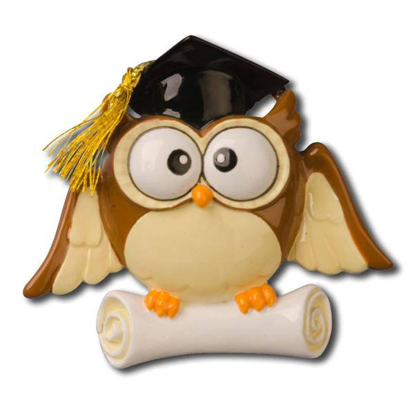 Graduate Owl Personalized Christmas Ornament / Graduation Ornament / Graduate