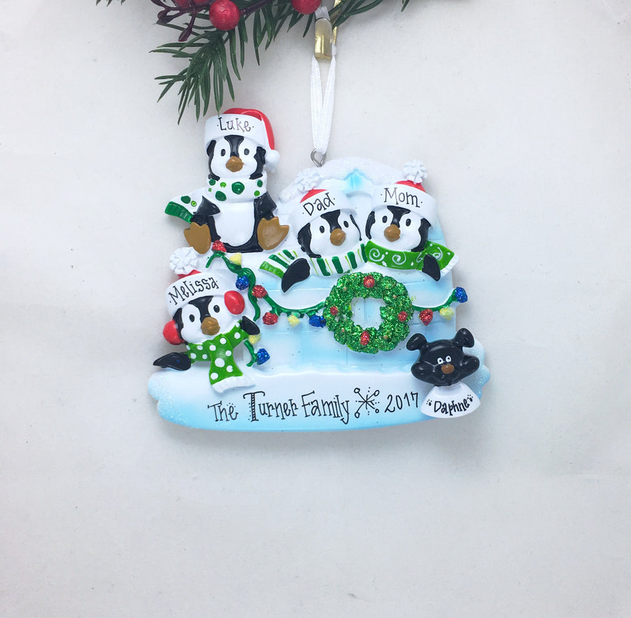 "Black Dog ""Add On"" Ornament / Dog Face Add-On / Family with a Dog / Add Your Dog to Your Family Ornament / Hand Personalized"