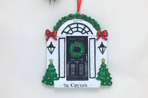Black Door Personalized Christmas Ornament / New Home Ornament / First Home