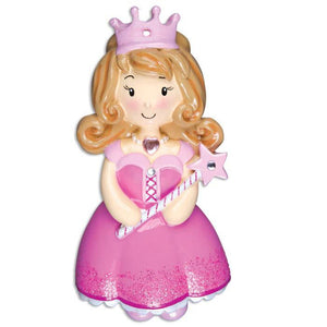 Princess Personalized Christmas Ornament / Princess Dress / Beauty Pageant / Tiara / Party Favor