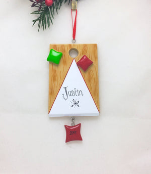 Cornhole Personalized Christmas Ornament / Games Ornament / Hobbies Ornament /Backyard Games / Barbecue / Picnic