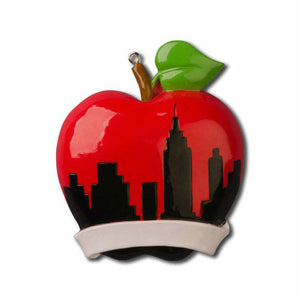 New York City Personalized Christmas Ornament / Big Apple Skyline / New York Christmas in New York Souvenir