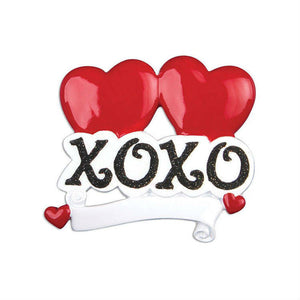 XOXO Personalized Christmas Ornament for Couples / Our First Christmas
