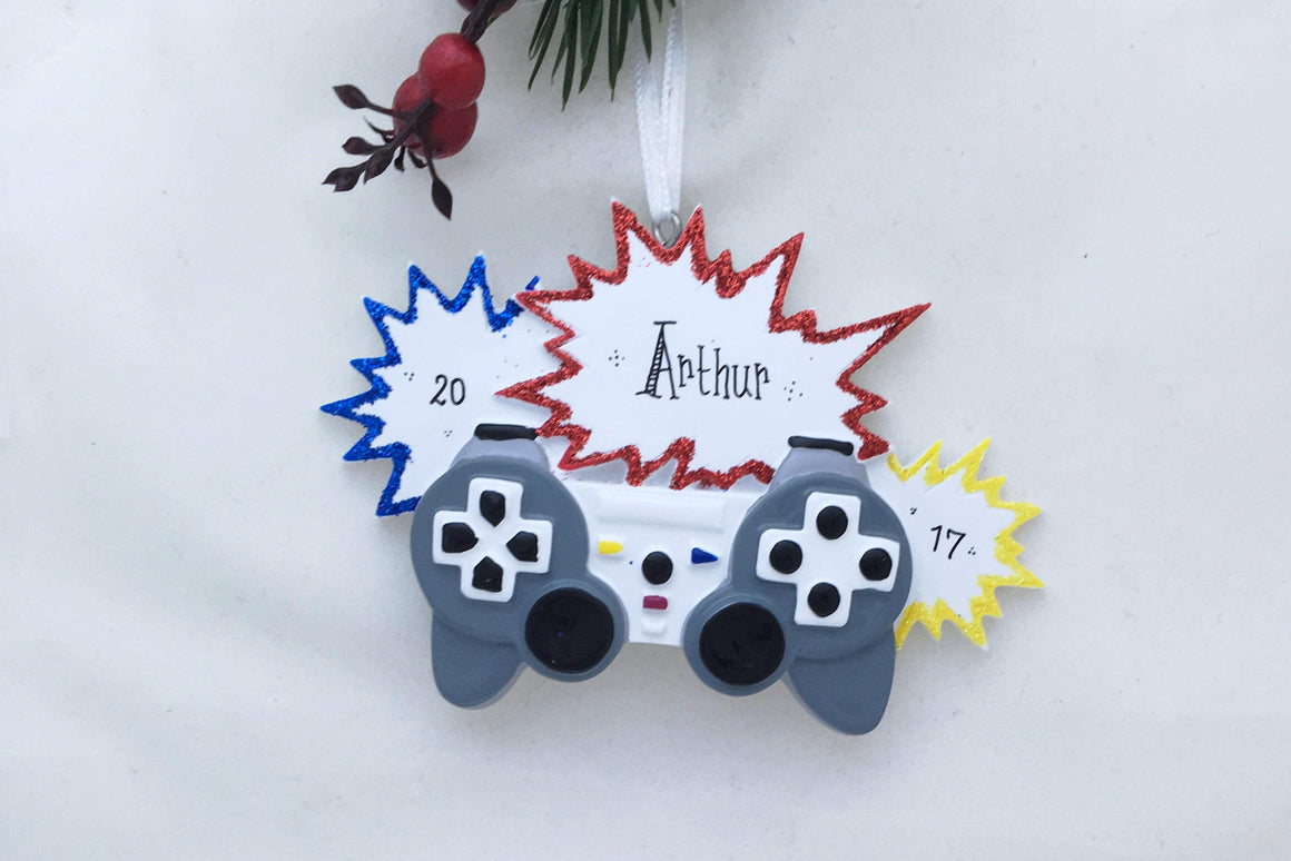 Video Gamer Personalized Christmas Ornament / Video Game Ornament