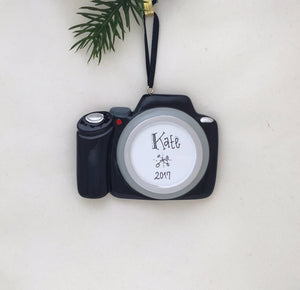 Camera Personalized Christmas Ornament / Photographer Ornament / Photo Shoot / Photo Ornament / New Camera / Custom Ornament