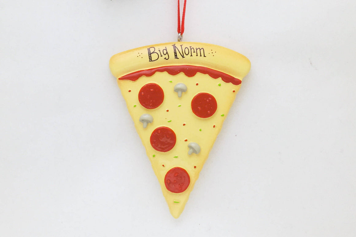 Pepperoni Pizza Slice Personalized Christmas Ornament / Pizza Ornament / Hand Personalized