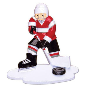 Ice Hockey Personalized Christmas Ornament / Ice Hockey Player Ornament / Custom Name or Message