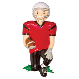 Football Player Personalized Christmas Ornament