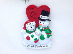 New Parents Christmas Ornament / First Christmas Personalized Ornament