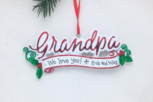 Grandpa Personalized Christmas Ornament
