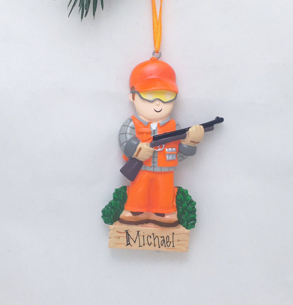 Hunter Christmas Ornament / Personalized Christmas Ornament / Hunting Ornament