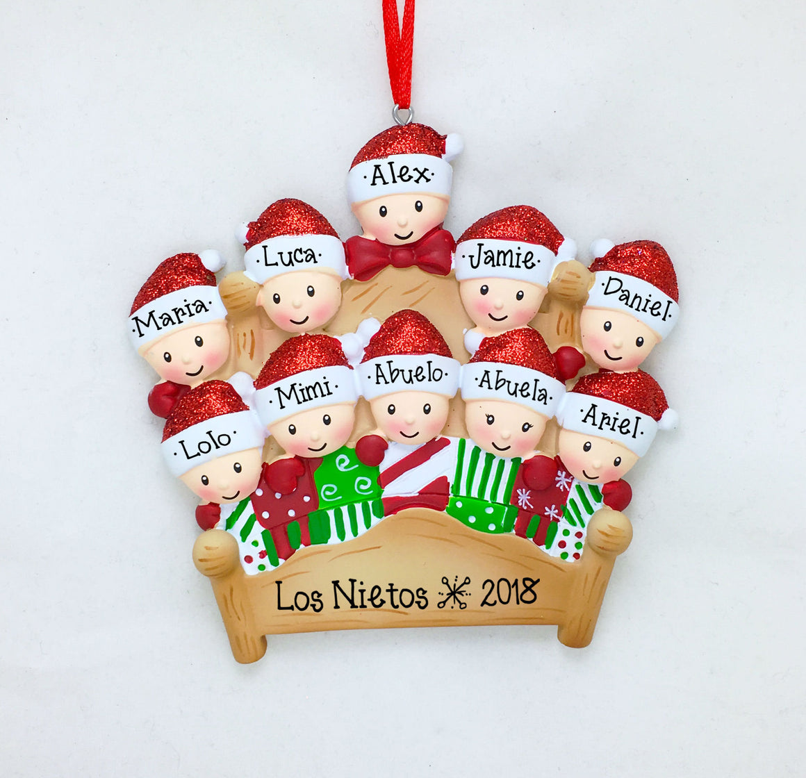 10 Tucked into Bed Personalized Christmas Ornament